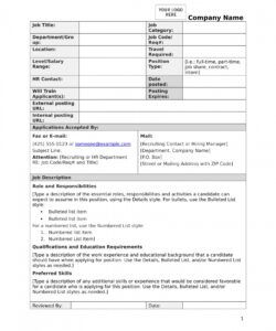 free 15 job description forms in pdf  ms word generic job description template and sample