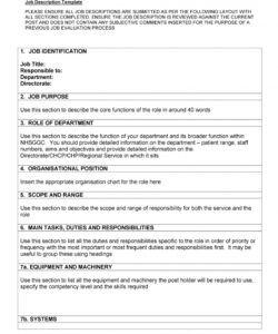 free 47 job description templates & examples ᐅ templatelab generic job description template