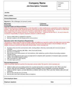 free 47 job description templates & examples ᐅ templatelab it job description template and sample