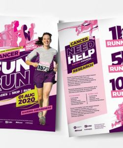 free a4 cancer fun run advertisement template in psd ai & vector fun run flyer template