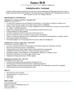 free administrative assistant resume  resumego administrative assistant job description template and sample