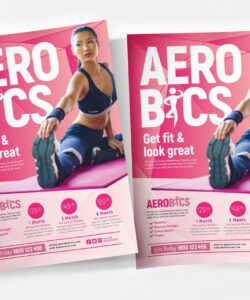 free aerobic poster & flyer templates  psd ai & vector exercise class flyer template and sample