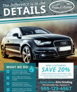 free auto detailing flyer template  mycreativeshop mobile car wash flyer template
