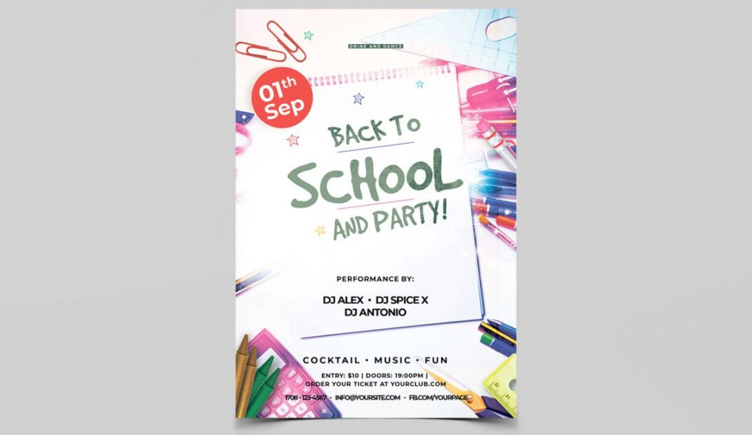 free back 2 school event psd free flyers templates  psdflyer school event flyer template doc