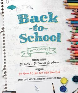 free back to school event flyer free psd flyer  stockpsd school event flyer template