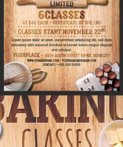 free baking classes flyer template on behance cooking class flyer template