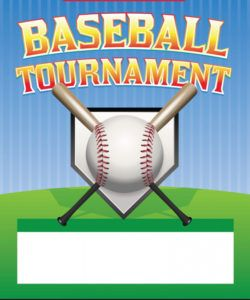 free baseball tournament flyer royalty free vector image baseball tournament flyer template