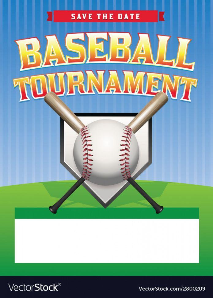 free baseball tournament flyer royalty free vector image baseball tournament flyer template