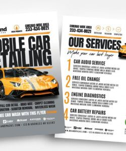 free car detailing flyer template v2  psd ai & vector  brandpacks mobile car wash flyer template