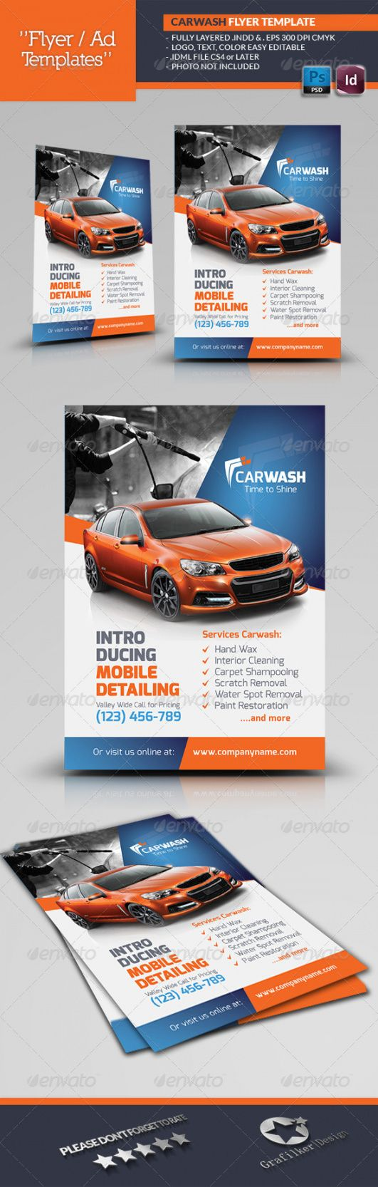 free car wash flyer graphics designs & templates from graphicriver mobile car wash flyer template and sample