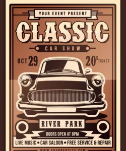 free classic car show flyer corporate identity template classic car show flyer template doc