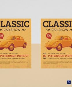 free classic car show flyer design template in psd word classic car show flyer template and sample