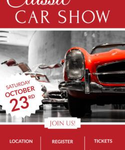 free classic car show poster template  mycreativeshop classic car show flyer template