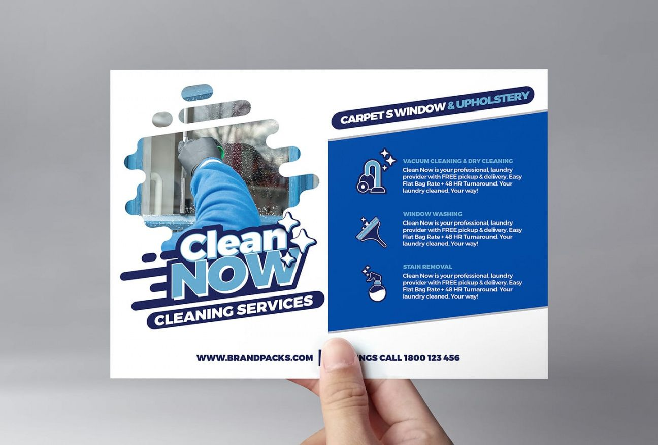 free cleaning service flyer template in psd ai & vector cleaning company flyer template doc