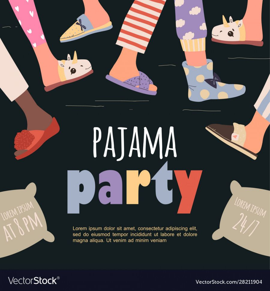 free colored pajama party poster template royalty free vector pajama party flyer template doc