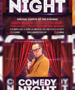 free comedy night flyer template comedy show flyer template and sample