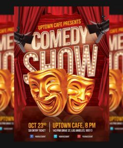 free comedy show flyer template comedy show flyer template and sample