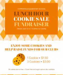 free cookie sale school fundraiser event flyer template school event flyer template