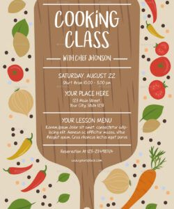 free cooking class flyer template cooking class flyer template and sample