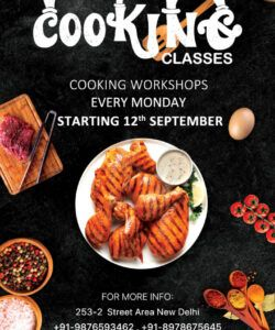 free cooking classes flyer free psd  psddaddy cooking class flyer template and sample