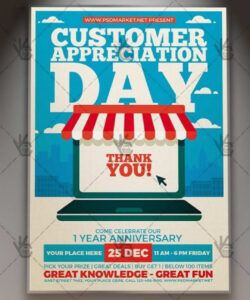 free customer appreciation day  business flyer psd template customer appreciation day flyer template and sample