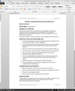 free executive director job description template  npo1021 executive director job description template doc