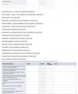 free free due diligence templates and checklists  smartsheet due diligence checklist template examples