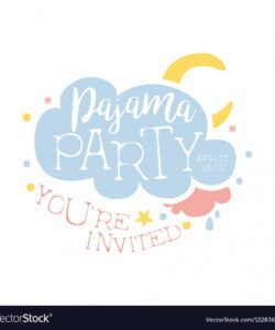 free girly pajama party invitation card template vector image pajama party flyer template