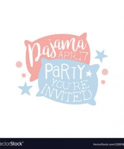 free girly pajama party invitation card template vector image pajama party flyer template doc
