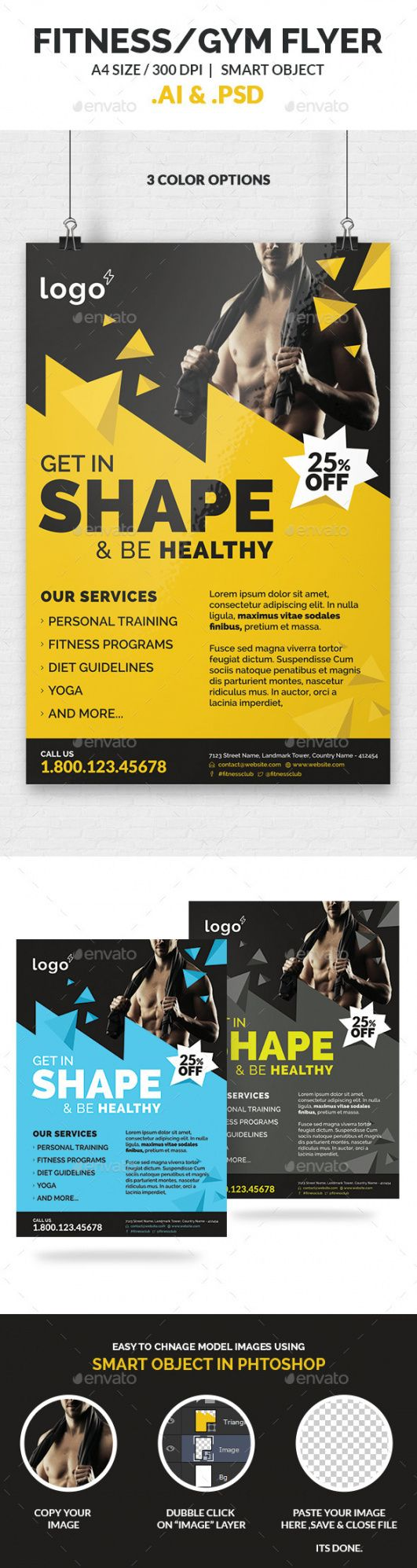 free gym graphics designs & templates from graphicriver gym open house flyer template and sample
