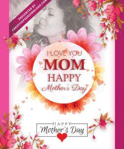 free i love you mom happy mothers day flyer template psd free mothers day flyer template pdf