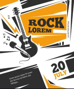 free live music poster template royalty free vector image live music flyer template doc