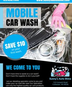 free mobile car wash flyer template  mycreativeshop mobile car wash flyer template and sample