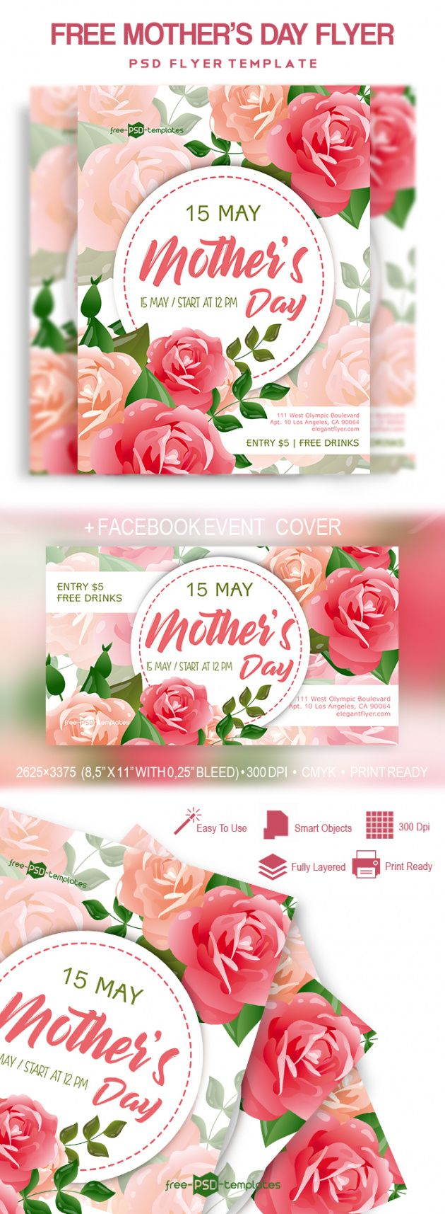 free mother's day flyer in psd  free psd templates mothers day flyer template and sample