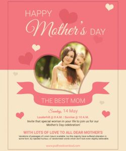 free mothers day psd flyer template   psd free download mothers day flyer template pdf