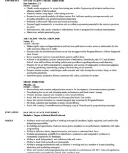 free music director resume samples  velvet jobs church music director job description template and sample