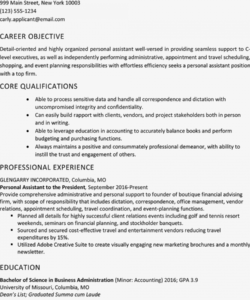 free personal assistant resume sample and skills list personal assistant job description template