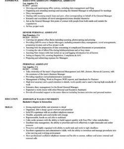 free personal assistant resume samples  velvet jobs personal assistant job description template and sample