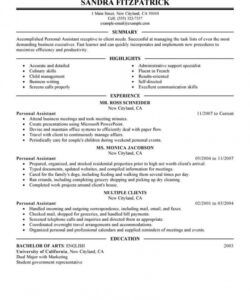 free professional personal assistant resume examples personal assistant job description template doc