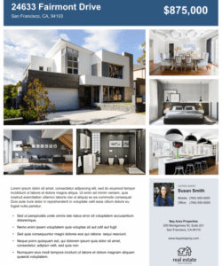 free real estate flyer free templates  zillow premier agent real estate marketing flyer template doc