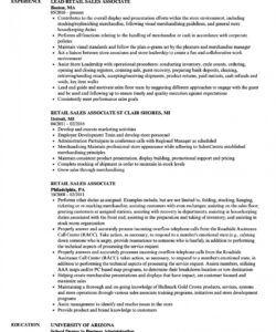 free retail sales associate resume samples  velvet jobs retail job description template