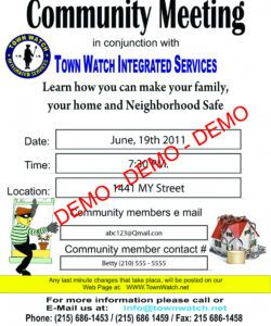 free services neighborhood meeting flyer template