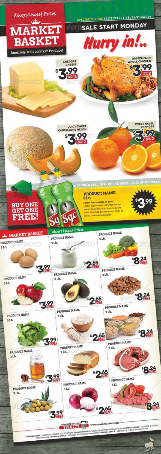 free supermarket flyer graphics designs & templates grocery store flyer template pdf