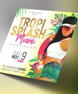 free tropical party small flyer template on behance hispanic heritage flyer template doc