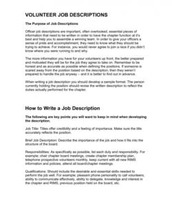 free volunteer job descriptions board member job description template doc