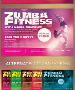 free zumba fitness class flyer template exercise class flyer template pdf