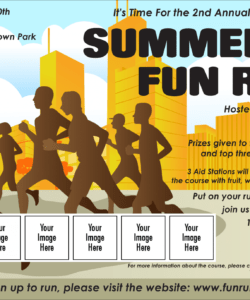 fun run logo flyer fun run flyer template