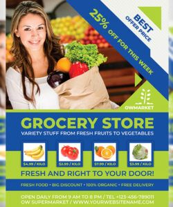 grocery store flyer template by owpictures on dribbble grocery store flyer template doc