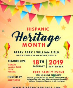 how to support hispanic heritage month on social media hispanic heritage flyer template and sample