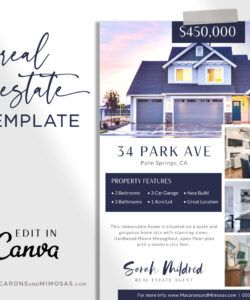 kendra  just listed flyer real estate marketing flyer template